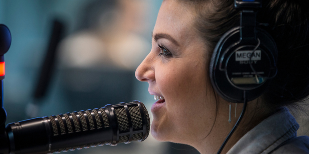 Megan Sellers in action with ZM's morning crew, Fletch and Vaughan. Photo/Michael Craig