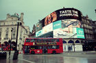 The giant illuminated billboards in Piccadilly Circus have been on constantly since 1949, barring power-cuts and temporary switch-offs. Photo / 123RF
