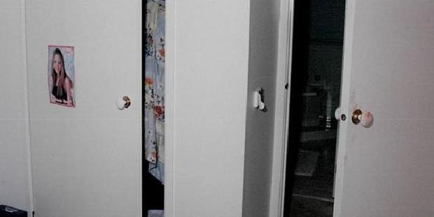 Loading The room of Irene Lin, with a blood stained door handle. Picture: Supreme Court of NSW