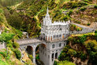 The Las Lajas Sanctuary is located at an altitude of 2900 metres in the Colombian Andes. Photo / 123RF