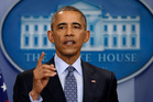 President Barack Obama speaks during his final presidential news conference. Photo / AP
