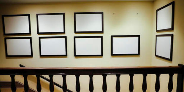 Photos of President Barack Obama and his family, that for years have lined the walls of corridors in the West Wing of the White House in Washington, are now blank and empty. Photo / AP
