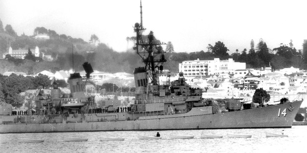 The USS Buchanan, refused access to New Zealand in 1985. Photo / Supplied