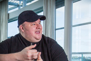 Internet entrepreneur Kim Dotcom, whose new business has stalled at launch.