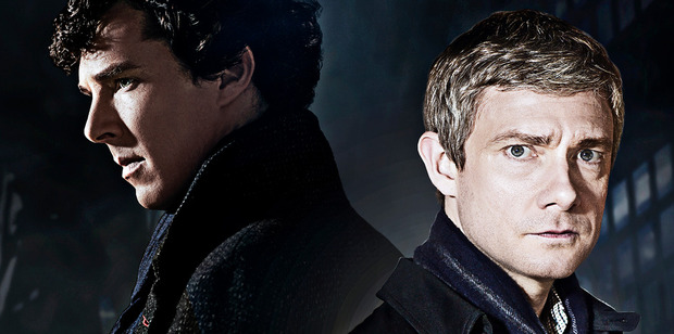 Benedict Cumberbatch and Martin Freeman, the stars of Sherlock. The season four finale has leaked online early.