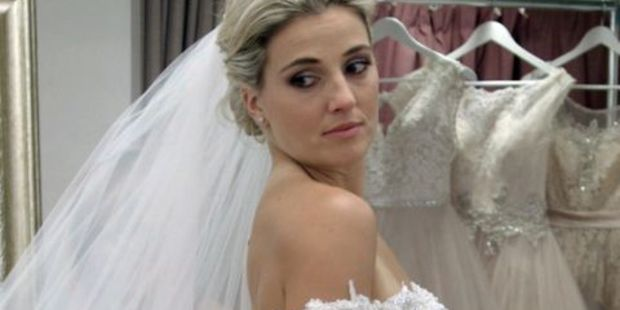 """Flynn left viewers hanging when she said """"maybe"""" to a dress on the show """"Say Yes to the Dress"""". Photo / Supplied"""
