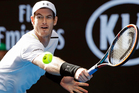 Britain's Andy Murray makes a backhand return to United States' Sam Querrey during their third round match at the Australian Open. Photo / AP