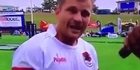 Watch: Watch: Rugby sevens player uses his post-match interview to sing a song to his children
