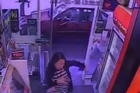 Pedestrians running for their lives from an out of control vehicle in Melbourne narrowly escaped death by diving into a convenience store.  Twitter/@sunprawn