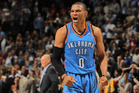 Russell Westbrook celebrates as the Thunder defeat the Denver Nuggets. Photo / Getty Images