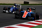 Pascal Wehrlein driving the Manor Racing MRT-Mercedes MRT05. Photo / Getty Images