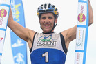 Braden Currie celebrates winning the Lorne Adventure Race. Photo / Getty Images