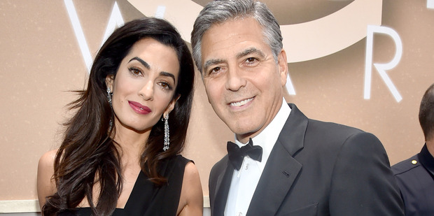 Lawyer Amal Clooney and actor George Clooney are expecting twins. Photo / Getty