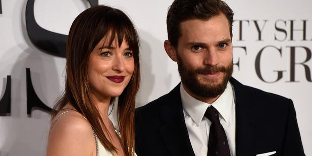 Stars Dakota Johnson and Jamie Dornan attend the UK Premiere their film Fifty Shades Of Grey. Photo / Getty