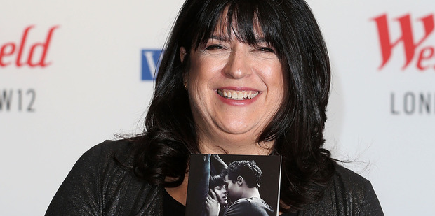 E.L. James signs copies of '50 Shades of Grey' as the film is released at Westfield London on February 17, 2015. Photo / Getty