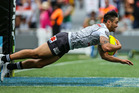Shaun Johnson scores a try during the 2016 Auckland Nines. Photo / Getty Images