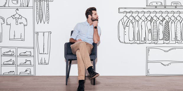 Men are creatures of habit when it comes to shopping for clothes. Photo / Getty