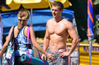 Kyle Pryor and co-star Penny McNamee filming Home and Away in Sydney, Australia. Photo / Getty