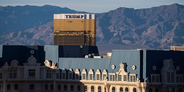 The Trump Hotel in Las Vegas is impossible to miss. Photo / Getty Images