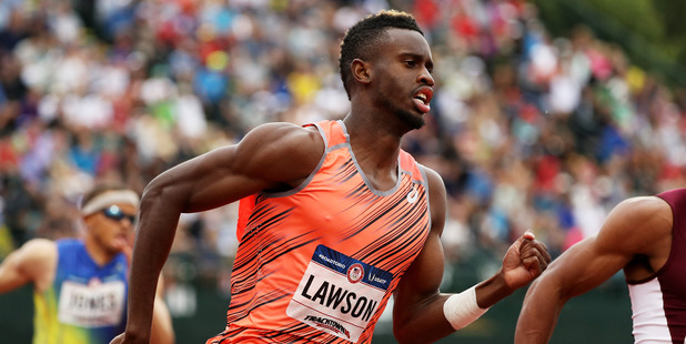 Jarrion Lawson competes at the 2016 U.S. Olympic Track & Field Team Trials. Photo / Getty Images