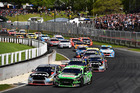 Mark Winterbottom and Scott Pye lead the pack at Pukekohe. Photo / Getty Images