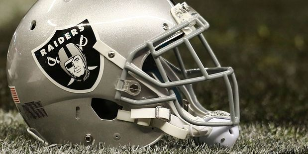 An Oakland Raiders helmet. Photo / Getty