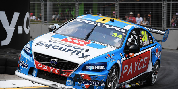 James Moffat drives the #34 Wilson Security Racing GRM Volvo S60. Photo / Getty Images