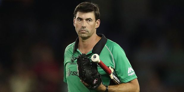 Former NZ captain Stephen Fleming in his role as Melbourne Stars head coach. Photo / Getty
