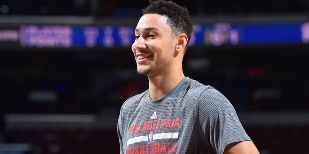 Ben Simmons before the game against the New York Knicks on January 11. Photo / Getty Images