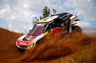 Stephane Peterhansel in the 3008 DKR Peugeot during the Dakar Rally. Photo / Getty Images