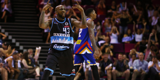 Kevin Dillard celebrates his game-winner to disappoint the Brisbane crowd. Photo / Getty