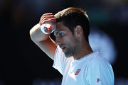 Novak Djokovic reacts during his loss to Denis Istomin. Photo / Getty