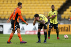 The Phoenix were unable to find their way past the Brisbane Roar. Photo / Getty