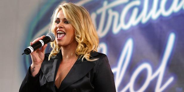 Former Australian Idol contestant Kate DeAraugo performs in 2007. Photo / Getty