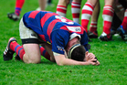 Simon Berghan playing Canterbury club rugby for Sydenham. Photo / Photosport