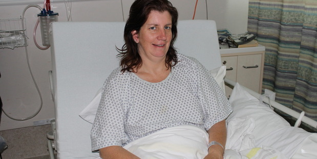 RECOVERY: Tam Bowker, recovering in Wellington Hospital on Monday, following a horse riding accident.