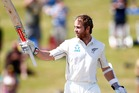 Kane Williamson's 15th test century carried New Zealand to an improbable seven-wicket test victory over Bangladesh at the Basin Reserve today. Photo / Getty Images.