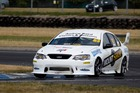 Nick Farrier in his Mount Shop Ford Falcon at Ruapuna. Photo / Supplied