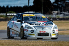 Nick Ross and his Total Lubricants Nissan Altima in action at Ruapuna over the weekend. Photo / Supplied