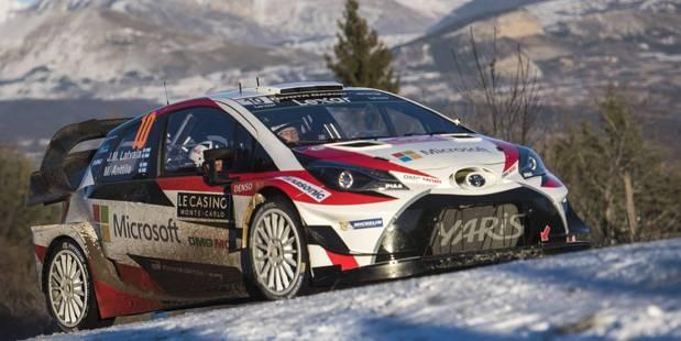 Toyota's Jari-Matti Latvala in action at the Monte Carlo Rally Shakedown. Photo / Getty Images