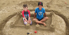 View: Paihia sandcastle competition