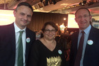 Green Party co-leaders James Shaw, Metiria Turei and Labour leader Andrew Little will campaign together. File  photo / Claire Trevett
