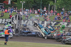 Last year's Superstocks North Island event had crash and bang and this weekend's 240 world championship promises plenty more. PHOTO/SUPPLIED BY SPORTSWEB PHOTOGRAPHY