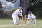 Mark Fraser scored 44 in Wanganui's first innings 242 against Manawatu at Victoria Park on Saturday. Photo/ Zaryd Wilson