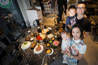 Louis Zhang and Tiffany Shan, with their children Ethen Zhang (4) and Jacob Zhang (6 months), will celebrate with family. Photo / Jason Oxenham
