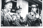 Strongman mine anniversary Proto team members Jack Cox, George ewen and John Forbes take a break from efforts underground picture supplied by Greymouth star
