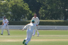 SPINNER'S TRACK: Whanganui pace bowler Connor O'Leary (hatless) went for dot balls rather than wickets allowing the CD spinners to take full advantage of track conditions in Christchurch.