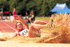 LANDING STRIP: Kelsey Berryman, who has set two personal bests at Cooks Gardens, has the long jump bonus firmly in her sights at the Cooks Classic tonight.