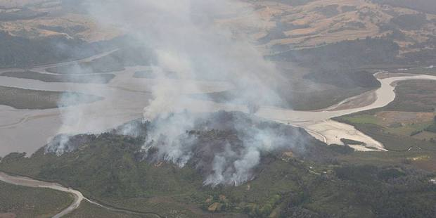 Aerial photos show the scale of the Whitianga bushfire that has destroyed homes. Photo supplied to the New Zealand Herald by The Mercury Bay Informer