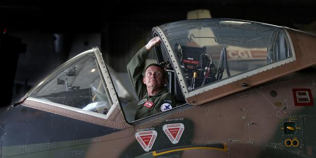 WARBIRD: Dave Brown in the cockpit of a BAC Strikemaster. Photo / John Borren